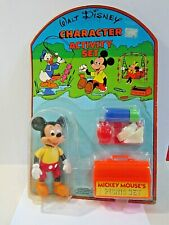 New listing Vintage 1977 Remco Walt Disney Character Mickey Mouse Activity Picnic Set Toy