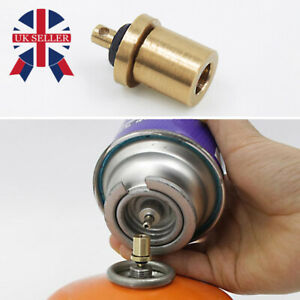 Gas Refill Adapter Stove Cylinder Butane Canister Tank Outdoor Camping BBQ UK