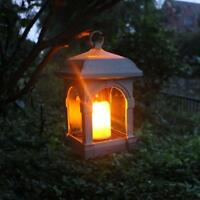 Candle Lantern Solar LED Light Waterproof Hang Lamp Outdoor Garden Yard Decor