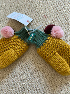 Fat Face Young Crew brand new tags  Mittens small colour block new tags