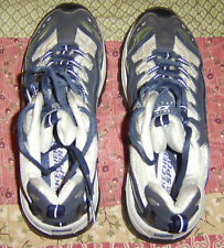 Women's SKECHERS Sport Athletic Shoes SN 1746 Blue/Silver/White Size 8.5 USED
