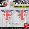 Adhesivo Etiqueta Engomada Triumph UK Flag Bonneville Daytona 675 Speed
