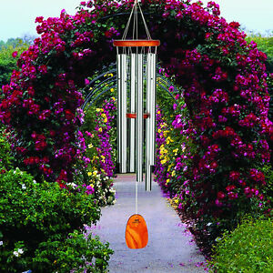 """Woodstock AMAZING GRACE LARGE SILVER WIND CHIMES,  40"""" Overall Length        #dm"""