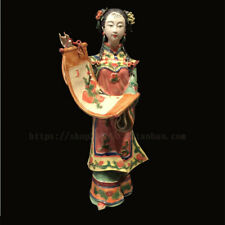 Statue céramique porcelaine chinoise Shiwan Foshan Chine dame traditionnelle art