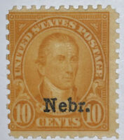 "Travelstamps: 1929 US Stamps Scott #679 Mint Og Hinged ""Nebraska Overprint"""