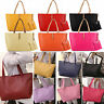 Womens Faux Leather Large Shoulder Bag Messenger Hobo Satchel Tote Purse Handbag