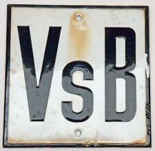 VsB - Emailleschild