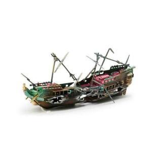 Large Wreck Boat Sunk Ship Destroyer Aquarium Ornament New Fish Decor Tank Q5W5