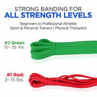 Great For Pilates Physical Therapy Yoga & Crossfit Resistance Long Band Trainers
