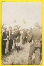 cpa France Carte Photo de 1911 MILITAIRES SOLDATS Revue du 14 Juillet Médaille