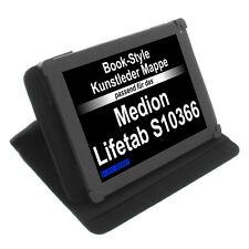 Tasche für Medion Lifetab S10366 BookStyle Schutzhülle Tablet Schwarz