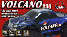 NEW Redcat Racing BLUE Volcano S30 1/10 Scale Nitro Monster Truck 2.4GHz RC BLUE