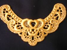 "gold metallic venise lace applique- 2 1/4""by 5""   G3 4pc."