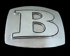 CHROME BELT BUCKLE B INITIAL LETTER NAMES MONOGRAMS JEWELRY SIGN BOUCLE CEINTURE