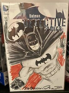 Batman Det. Comics #44 BLANK SKETCH COVER WITH ORIGINAL ART BY BRIAN BUCCELLATO