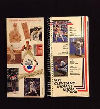Cleveland Indians Press & Media Information Guides 1990 & 1991 Baseball Seasons