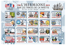 "NAVAL LABEL NP ""Maiden Crossing France-USA Tall ship 'HERMIONE / LAFAYETTE"" 2015"