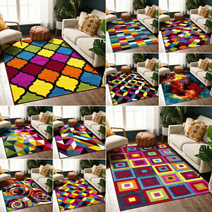 New Soft Colorful Decorative Area Rug Non-Shedding Stain Resistant Bedroom Rugs