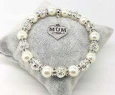Personalised Birthday Mum Sister Bridesmaid Wedding Charm Bracelet Birthday