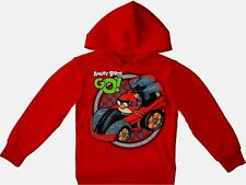 Angry Birds Pullover Hoodie 10-12 Large New childs Sweatshirt red