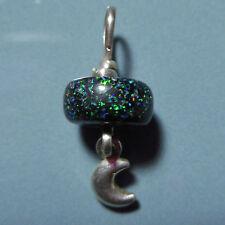 Pendentif argent Opale de fée Australie et Lune 3.45ct VIDEO Fairy opal pendant