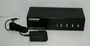Starview 4 Port Dual DVI USB KVM Switch with Audio SV431DVIDDU Startech Tested!