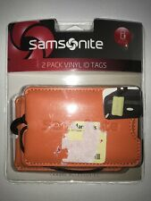 NEW - Samsonite Luggage Tag / 2 Piece Set Selected Color