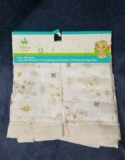 Disney Baby The Lion King 2 Security Blankets 16 x 16 yellow Simba