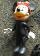"""Vintage 1970s Vinyl Plastic Minnie Mouse Doll 8"""" Tall"""