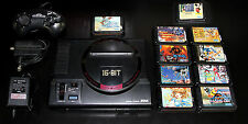 Mega Drive [Console +10 Games] Japan Sega Genesis System Bundle Lot [VideoGameX]