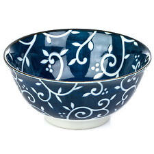Blue Karakusa Ceramic Japanese Tayou Bowl