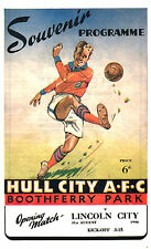 1946/47 Hull City V Lincoln City, 1st corrisponde al boothferry Park, perfetto