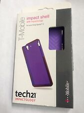 T-mobile tech21 D30 Clear Purple Impact Shell Case TPU Cover For Sony Xperia Z