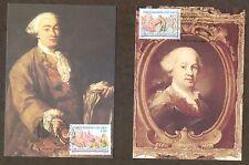 Vatican City Sc# 1354-5: Birth of Carlo Goldini, 2 Maxi Cards