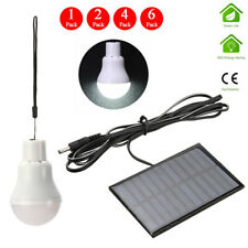 Portable Bulb Outdoor Indoor Solar Powered Panel LED Lighting System Lights 15W