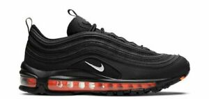 Air Max 97 GS Trainers Sneakers Shoes DD3238-001 Black Metallic Silver Total Ora
