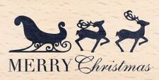 Merry Christmas 59207 American Crafts Christmas Rubber Stamp