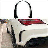 Black Rear Bumper Side Vent Canards For Mercedes-Benz W117 CLA200/220 CLA250 45