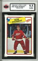 1988-89 O-Pee-Chee #181 Bob Probert RC Graded 9.5 NGM (062319-82)