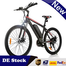 Elektrofahrrad Mountainbike ebike 26Inch E-Bike 250W Motor Shimano Pedelec (ROT)