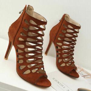 Women Pumps Shoes Roman Gladiator Hollow out Sandals Stilettos Party High Heels