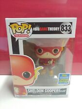 FUNKO POP 833 BIG BANG THEORY SHELDON COOPER AS THE FLASH SDCC EXCLUSIVE