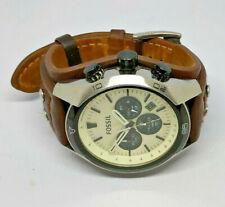 Mens Fossil Coachman White Dial Chronograph Watch CH2890