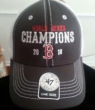 BOSTON RED SOX 2018 World Series Champions Cap Hat  '47 Brand Adjustable NEW '18