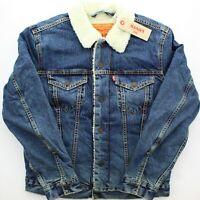 Levi's Trucker Jean Jacket Sherpa Fleece Lined Levi Strauss, Go Set Blue $98