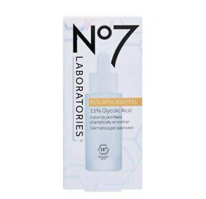 No7 Laboratories RESURFACING PEEL 15% Glycolic Acid 30ml - New and Boxed