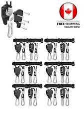 iPower 6-Pack 1/8 Inch 8-Feet Long Heavy Duty Adjustable Rope Clip Hanger 150lb