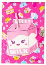"""CUTE! FREE HB Pencil ✏️ !! """"Smiggle"""" StrawBeRRY 🍓SCENTED Lockable Diary JournaL"""