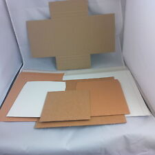 """Chose the colour,style & quantity Corrugated/Card Record mailers 7""""/12""""/LP/33rpm"""