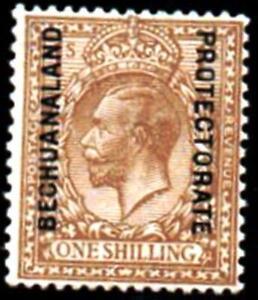 BECHUANALAND. 1926 BISTRE BRN.1s.SG #.98.